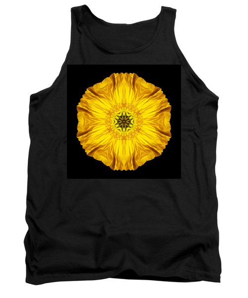 Tank Top featuring the photograph Iceland Poppy Flower Mandala by David J Bookbinder