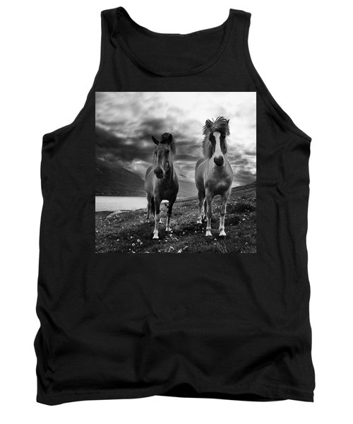 Tank Top featuring the photograph Icelandic Horses by Frodi Brinks