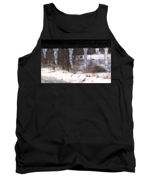 Tank Top featuring the photograph Icicles On The Bridge by Nina Silver