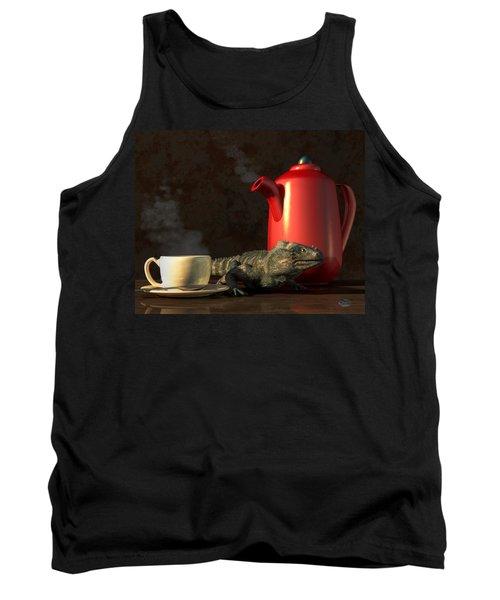 Iguana Coffee Tank Top
