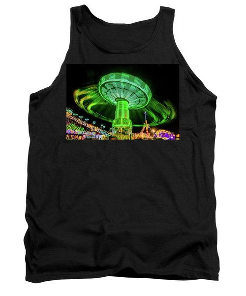Illuminated Fair Ride With Blurred Neon Tank Top