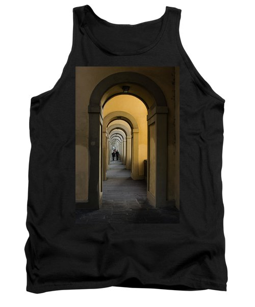 In A Distance - Vasari Corridor In Florence Italy  Tank Top