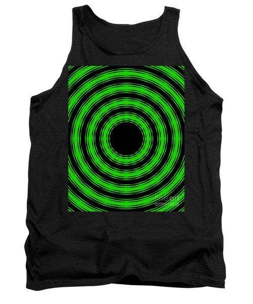 In Circles-green Version Tank Top by Roz Abellera Art