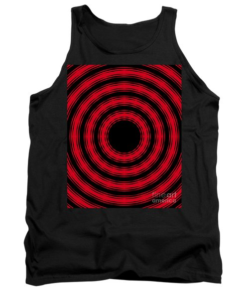 Tank Top featuring the painting In Circles- Red Version by Roz Abellera Art