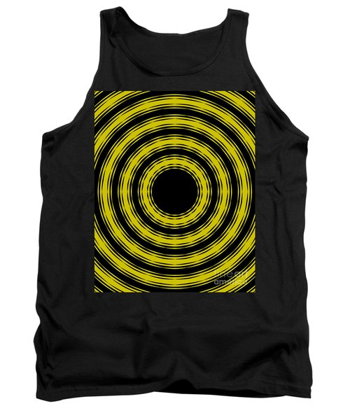 Tank Top featuring the painting In Circles- Yellow Version by Roz Abellera Art