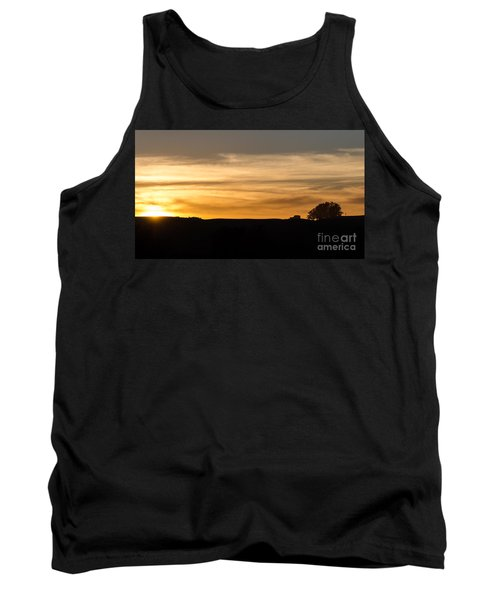 In The Evening I Rest Tank Top by CML Brown