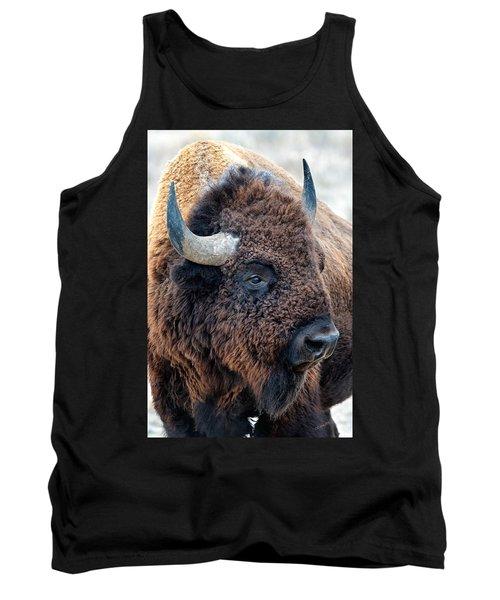 Bison The Mighty Beast Bison Das Machtige Tier North American Wildlife By Olena Art Tank Top