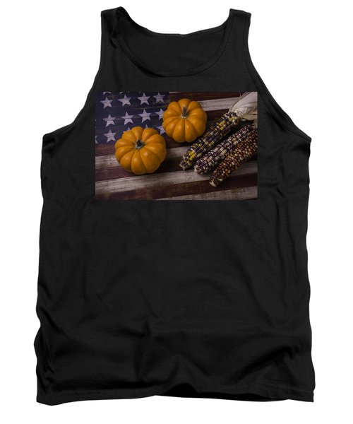 Indian Corn On Old Flag Tank Top