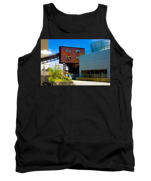 Industrial Power Plant Architectural Landscape Tank Top
