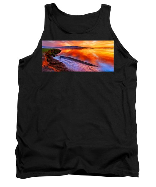 Tank Top featuring the painting Inlet Sunset by Bruce Nutting
