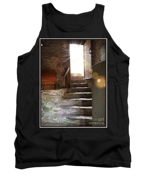 Tank Top featuring the photograph Into The Light - The Ephrata Cloisters by Joseph J Stevens