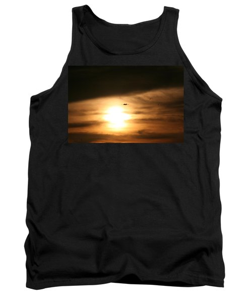 Tank Top featuring the photograph Into The Sun by David S Reynolds