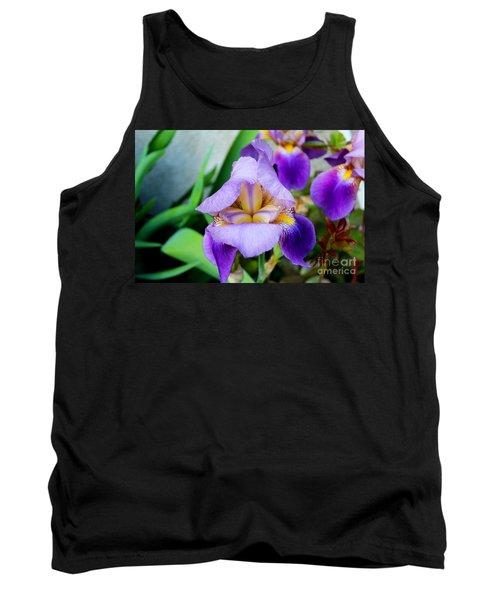 Iris From The Garden Tank Top