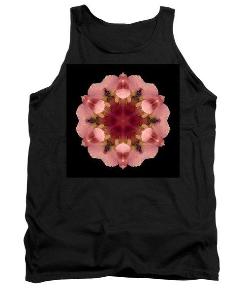 Tank Top featuring the photograph Iris Germanica Flower Mandala by David J Bookbinder