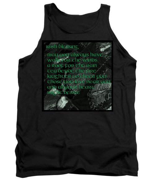 Irish Blessing Stitched In Time Tank Top