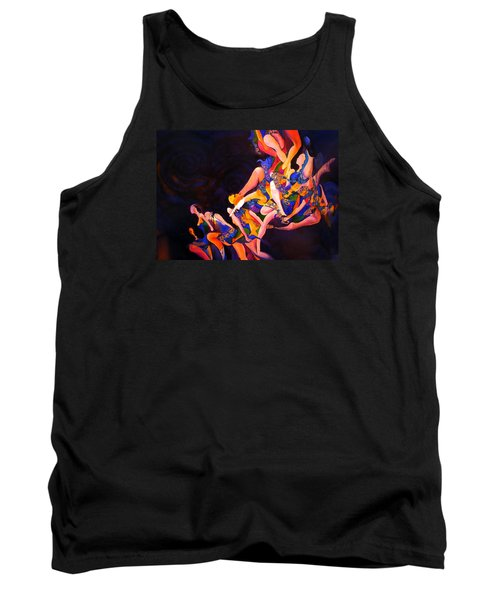Tank Top featuring the painting Irish Knot by Georg Douglas