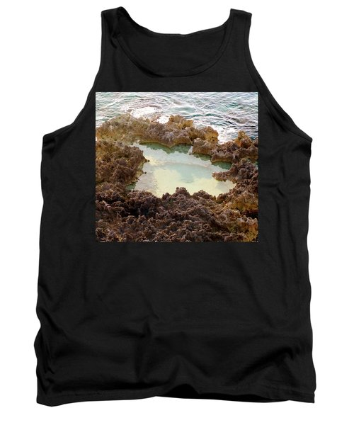 Tank Top featuring the photograph Ironshore Tidewater Pool by Amar Sheow