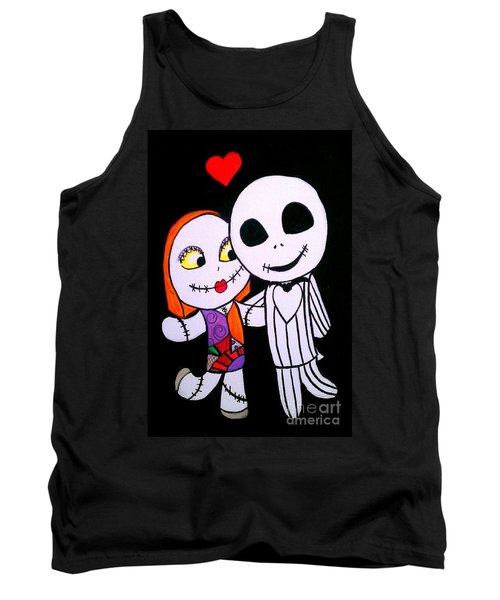 Tank Top featuring the painting Jack And Sally by Marisela Mungia