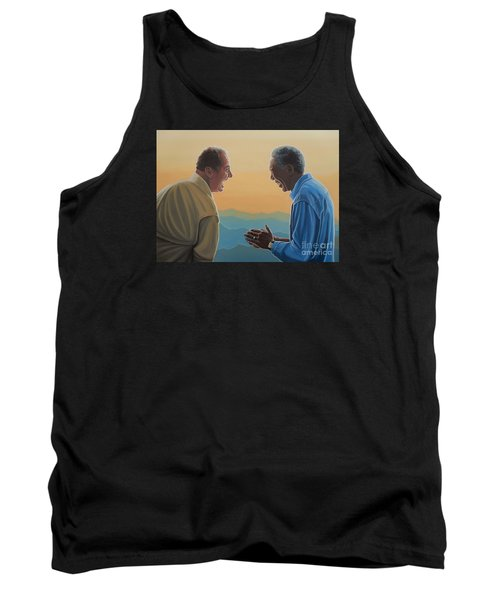 Jack Nicholson And Morgan Freeman Tank Top by Paul Meijering
