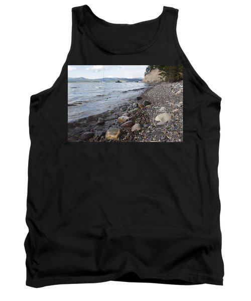 Jackson Lake With Boats Tank Top by Belinda Greb