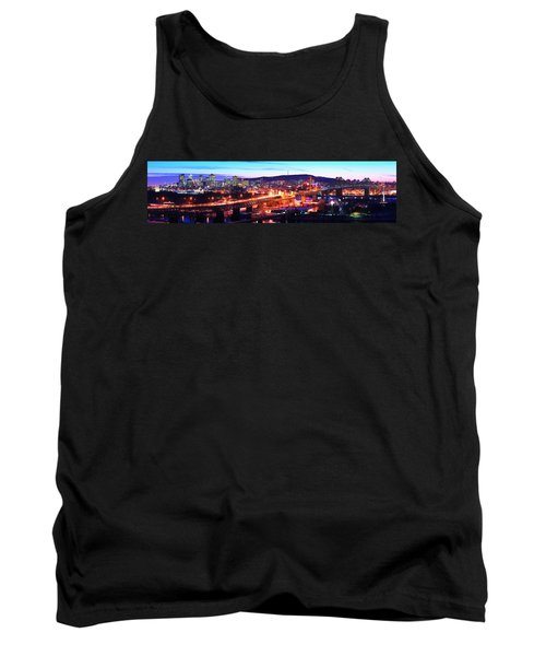Jacques Cartier Bridge With City Lit Tank Top