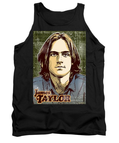 James Taylor Pop Art Tank Top