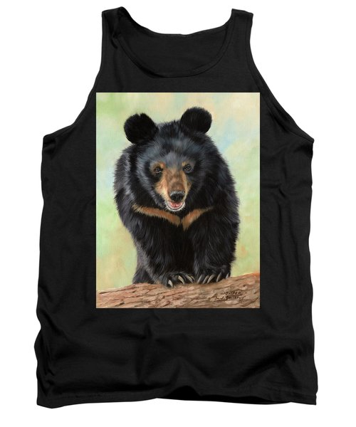Jasper Moon Bear - In Support Of Animals Asia Tank Top by David Stribbling