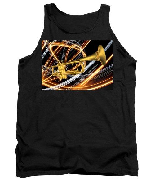 Jazz Art Trumpet Tank Top