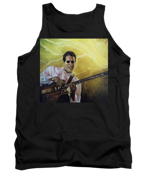 Tank Top featuring the painting Jazz by Emery Franklin