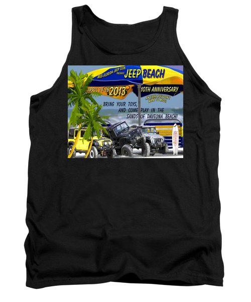 Tank Top featuring the photograph Jeep Beach 2013 Welcomes All Jeepers by DigiArt Diaries by Vicky B Fuller