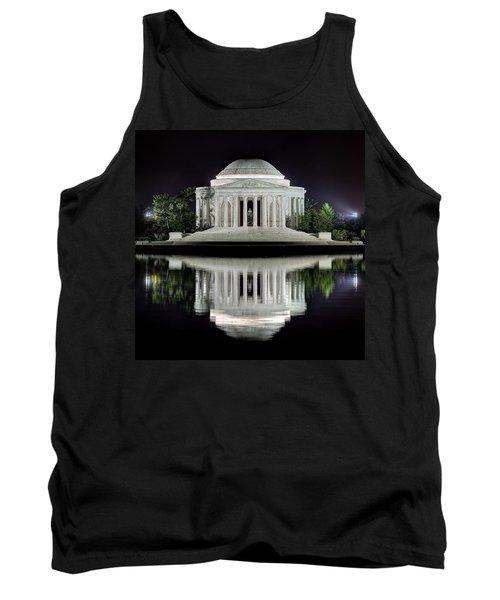 Jefferson Memorial - Night Reflection Tank Top