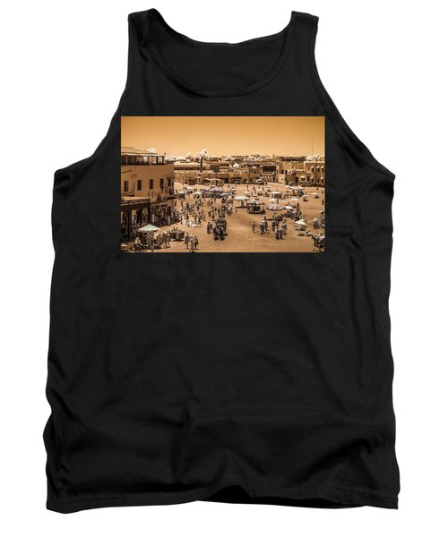 Jemaa El Fna Market In Marrakech At Noon Tank Top