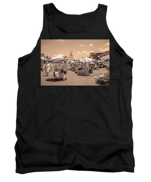 Jemaa El Fna Market In Marrakech Tank Top