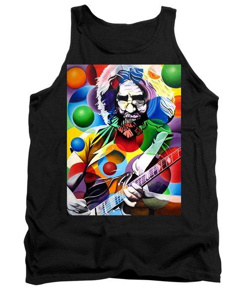 Jerry Garcia In Bubbles Tank Top