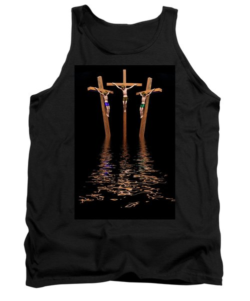 Jesus And Two Thieves On The Cross Tank Top