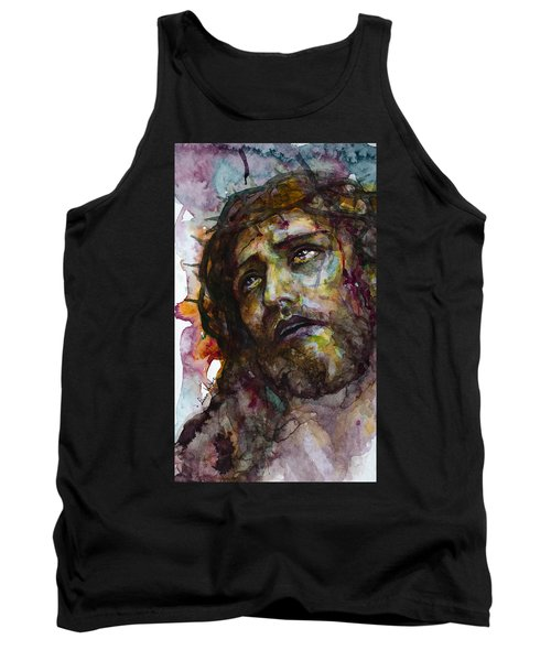Tank Top featuring the painting Jesus Christ by Laur Iduc