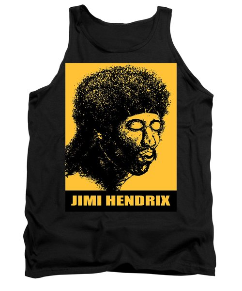 Jimi Hendrix Rock Music Poster Tank Top