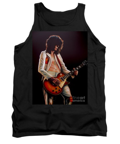 Jimmy Page In Led Zeppelin Painting Tank Top