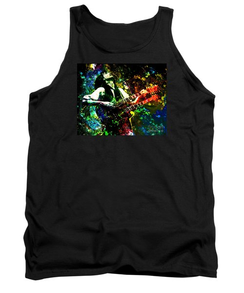 Jimmy Page - Led Zeppelin - Original Painting Print Tank Top by Ryan Rock Artist