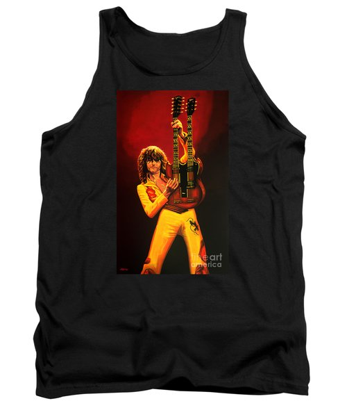 Jimmy Page Painting Tank Top by Paul Meijering