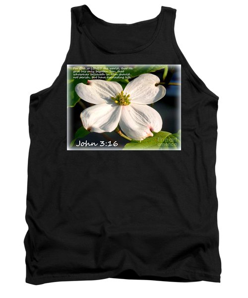 John 3-16/dogwood Legend Tank Top
