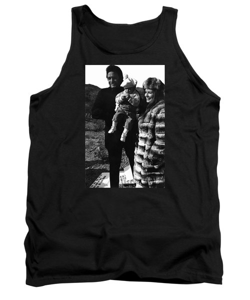 Tank Top featuring the photograph Johnny Cash And Family Old Tucson Arizona 1971 by David Lee Guss