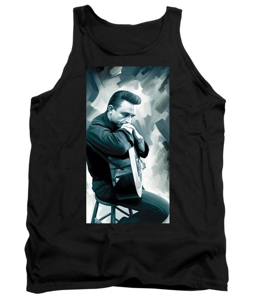 Johnny Cash Artwork 3 Tank Top