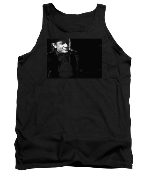 Tank Top featuring the photograph Johnny Cash Film Noir Homage Old Tucson Arizona 1971 by David Lee Guss