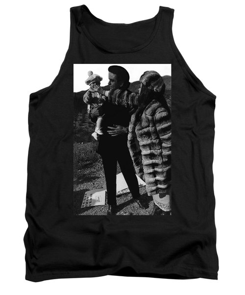 Tank Top featuring the photograph Johnny Cash Flesh And Blood Music Homage Cash Family Old Tucson Az by David Lee Guss