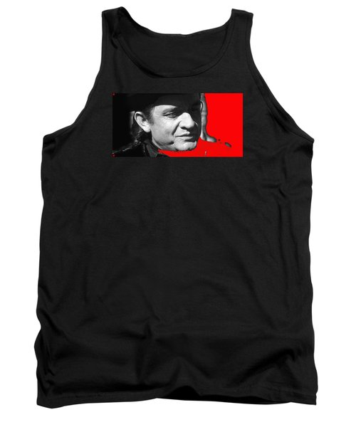 Tank Top featuring the photograph Johnny Cash Music Homage Ring Of Fire Old Tucson Arizona 1971 by David Lee Guss
