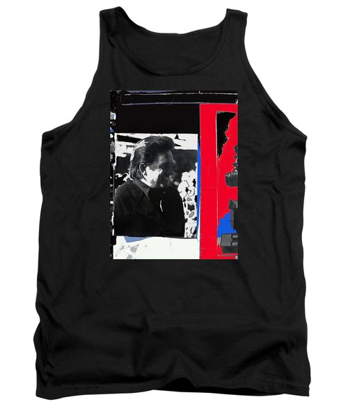 Tank Top featuring the photograph Johnny Cash  Smiling Collage 1971-2008 by David Lee Guss