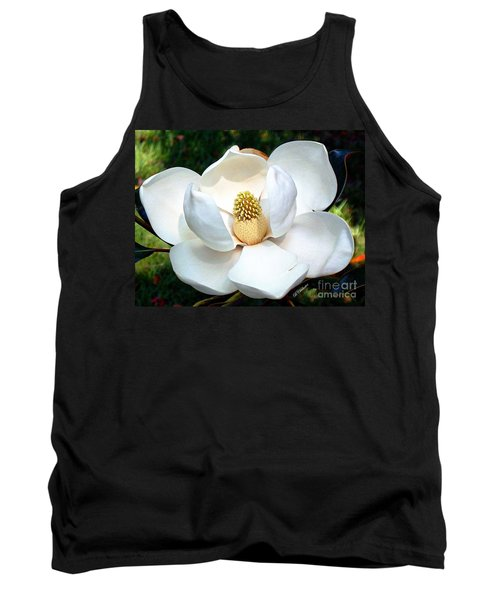 Tank Top featuring the photograph John's Magnolia by Barbara Chichester