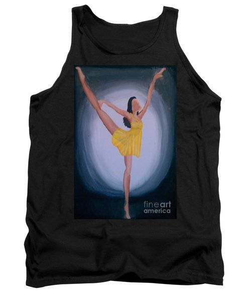Tank Top featuring the painting Joy by Marisela Mungia