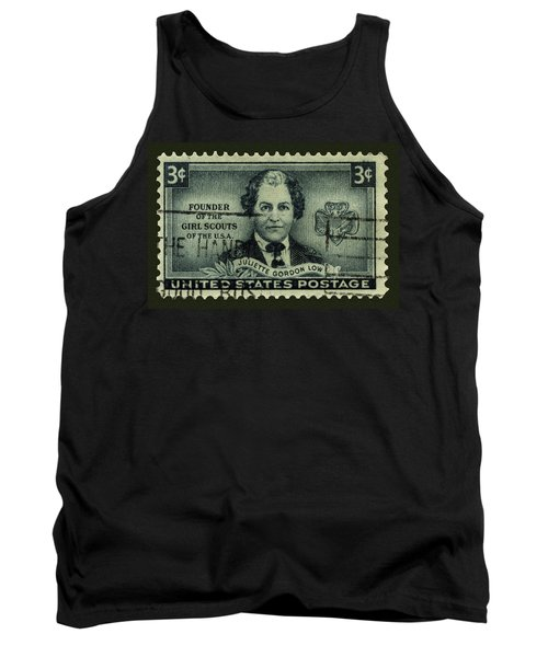 Girl Scouts Founder Juliette Gordon Low Postage Stamp Tank Top by Phil Cardamone